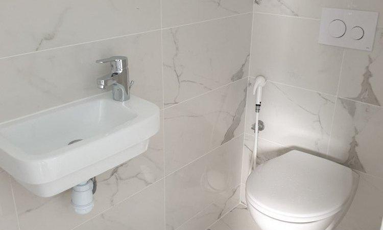 Wc suspendu avec kit de rinçage et lave mains